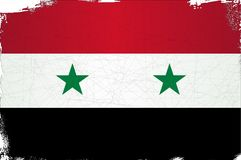 Flag of Syria Grunge. The flag of the country of Syria Stock Image