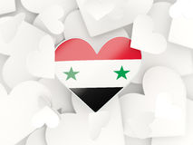 Flag of syria, heart shaped stickers Royalty Free Stock Photography