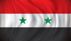 Flag of Syria. Vector illustration Stock Photography