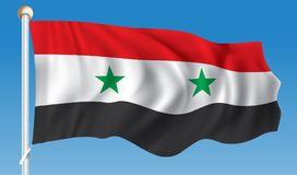 Flag of Syria. Vector illustration Stock Image