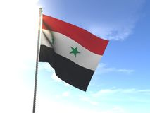 Flag of Syria. In the wind Stock Photos