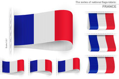 Flag Tag Clothes Label Sticker Sewn Set France Stock Photography