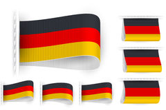 Flag Tag Clothes Label Sticker Sewn Set Germany Stock Photo