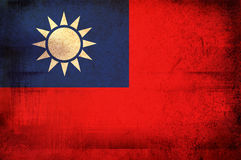 Flag of Taiwan Royalty Free Stock Photography
