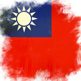 Flag of taiwan Royalty Free Stock Images