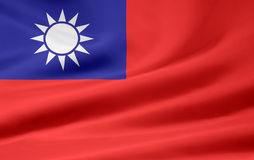 Flag of Taiwan Royalty Free Stock Photo