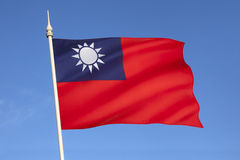 Flag of Taiwan Stock Photo