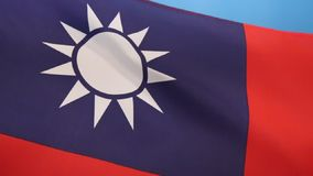 Flag of Taiwan. Flag of the Republic of China - Taiwan. Since 1949, the flag is mostly used within Taiwan, Penghu, Kinmen, Matsu and other outlying islands where stock video footage