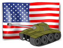 Flag and tank Stock Images