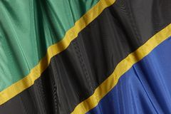 Flag of Tanzania Royalty Free Stock Photo