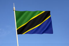Flag of Tanzania Stock Photo