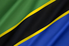 Flag of Tanzania Stock Image