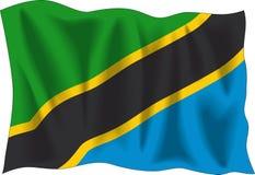 flag tanzanian Στοκ Εικόνες