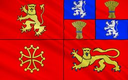 Flag of Tarn-et-Garonne, France. Flag of Tarn-et-Garonne is a department in the southwest of France. It is traversed by the Rivers Tarn and Garonne vector illustration