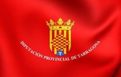 Flag of Tarragona Province, Spain. 3D Flag of Tarragona Province, Spain. Close Up Royalty Free Stock Photography