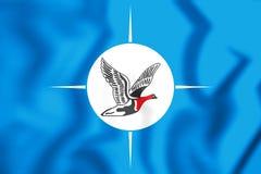 Flag of Taymyr Dolgano-Nenets Autonomous Okrug, Russia. 3D Illustration. 3D Flag of Taymyr Dolgano-Nenets Autonomous Okrug, Russia. 3D Illustration Stock Photo