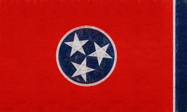 Flag of Tennessee Grunge Stock Images