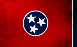 Tennessee state flag background grunge texture. royalty free stock photo