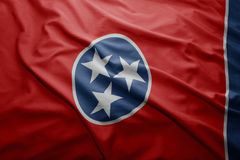 Flag of Tennessee state. Waving colorful Tennessee state flag Royalty Free Stock Images