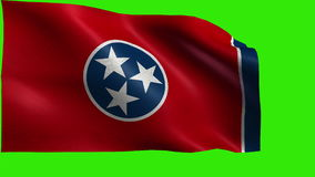 Flag of Tennessee, TN, Nashville, Memphis, June 1 1796, State of The United States of America, USA state - LOOP stock video