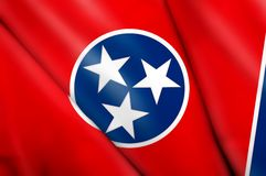 Flag of Tennessee (USA). This is an illustration of folded flag Royalty Free Stock Photos