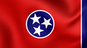 Flag of the Tennessee, USA. Stock Photography