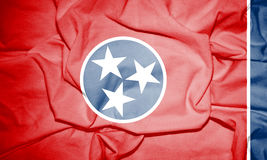Flag of Tennessee, USA. Royalty Free Stock Photos