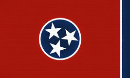Flag of Tennessee Wall Stock Image