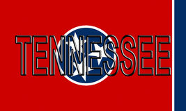 Flag of Tennessee Word Royalty Free Stock Photo