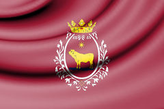 Flag of Teruel, Spain. Royalty Free Stock Images