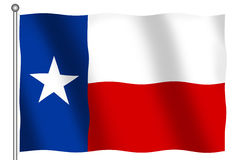 Flag of Texas. Flag of the State of Texas waving (With clipping path Royalty Free Stock Images