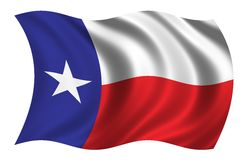 Flag of Texas. The flag of Texas waving in the wind Stock Photo