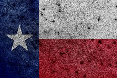 Flag of Texas/Lone Star Flag with correct geometric proportions royalty free illustration