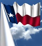 The flag of TexasThe flag of Texas is the official flag of the U.S. state of Texas. It is well known for its prominent single whit. The flag of Texas is the royalty free stock photo