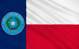 Flag of Texas, USA. Flag of Texas is the second largest state in the United States by both area and population Royalty Free Stock Images