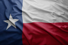 Flag of Texas state. Waving colorful Texas state flag Stock Photography