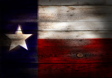Flag of Texas USA painted on grungy wood plank. Background Royalty Free Stock Image