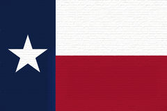 Flag of Texas Wall. Illustration of the flag of Texas state in America looking like it is painted on a wall Stock Images