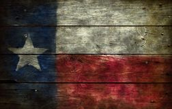 Flag of texas. On wooden background royalty free stock images