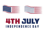 Flag 4th july american independence day Royalty Free Stock Photography