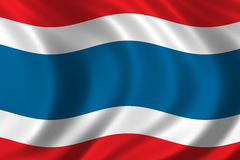 Flag of Thailand. Waving in the wind Stock Photo