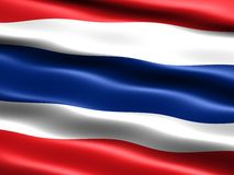 Flag of Thailand. Computer generated illustration with silky appearance and waves Stock Photos