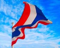Flag of Thailand. Against blue sky Stock Photography