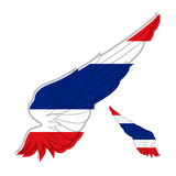 Flag of Thailand on abstract Wing and white background. Vector i Royalty Free Stock Images