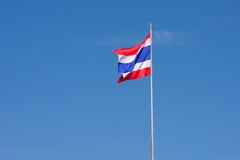 Flag of Thailand. 3 beautiful colors of the flag of Thailand Royalty Free Stock Photos