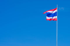 Flag of Thailand. 3 beautiful colors of the flag of Thailand Stock Image