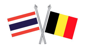 Flag of Thailand and Belgium. Cross flag for International relat Royalty Free Stock Photos