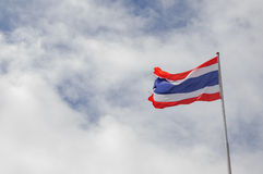 Flag of Thailand. On blue sky background Stock Photography