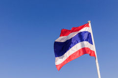 Flag of Thailand. On blue sky background Stock Images