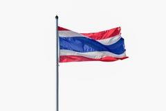Flag of Thailand isolated on white background. Stock Photo